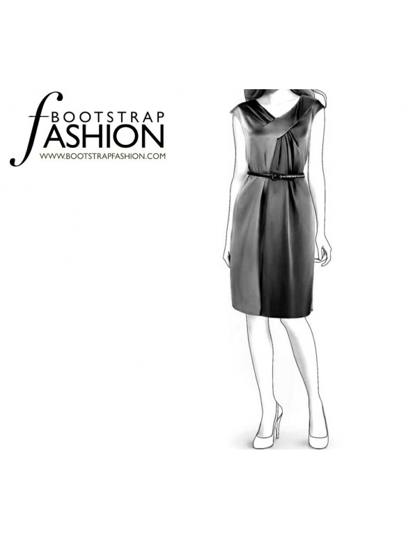 Fashion Designer Sewing Patterns - Draped V-Neck Dress