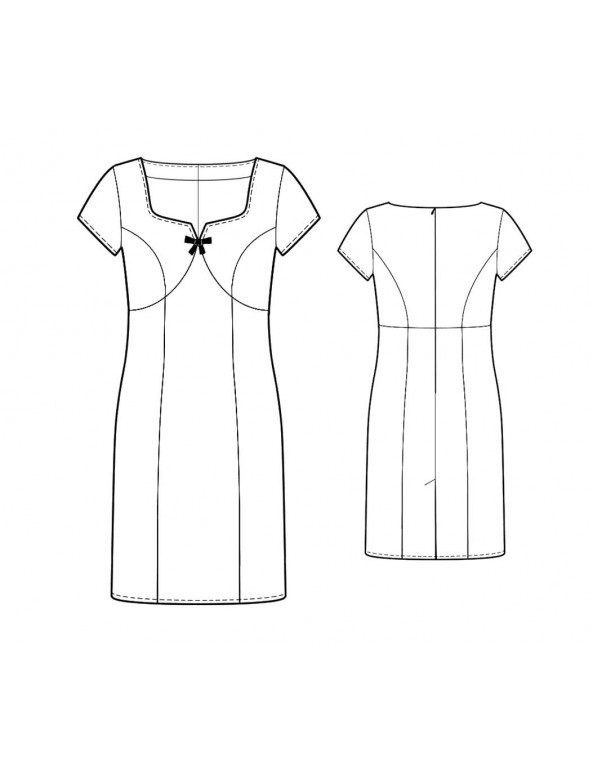 Fashion Designer Sewing Patterns - Vintage Inspired Sweetheart Neck Dress