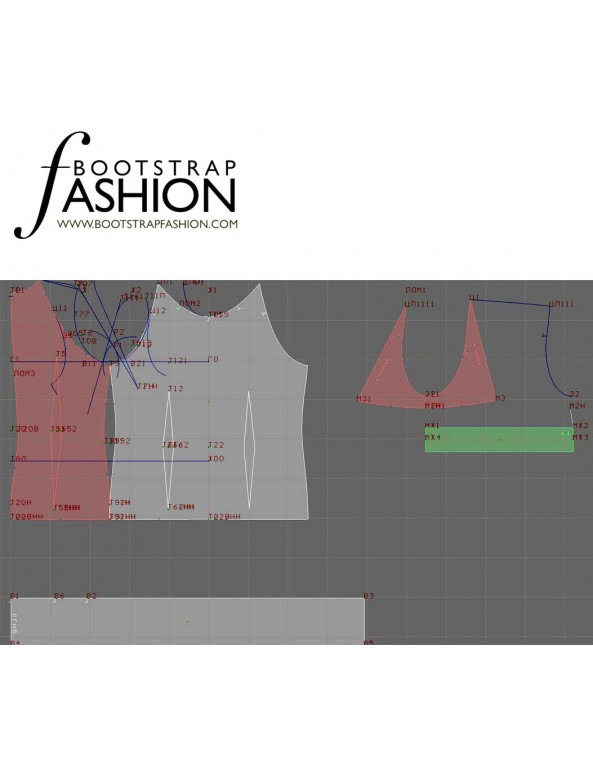 Fashion Designer Sewing Patterns - Tie-Neck Fitted Blouse