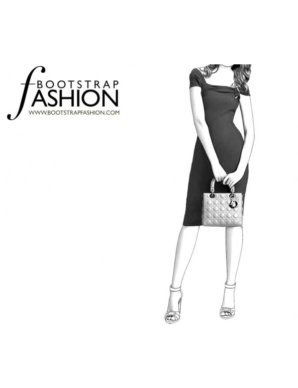Fashion Designer Sewing Patterns - Draped Off-Shoudler Knit Dress