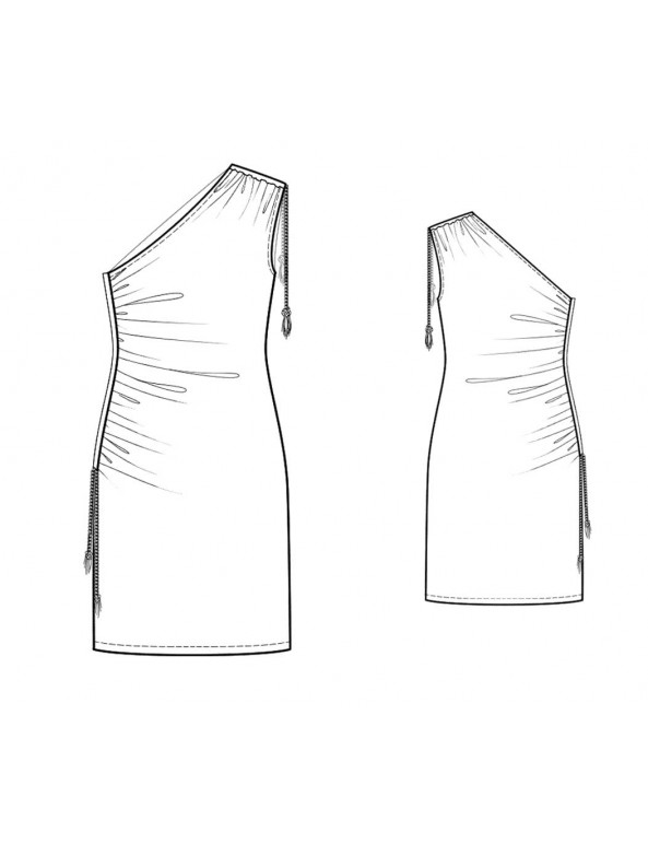 Fashion Designer Sewing Patterns - One Shoulder Draped Knit Dress