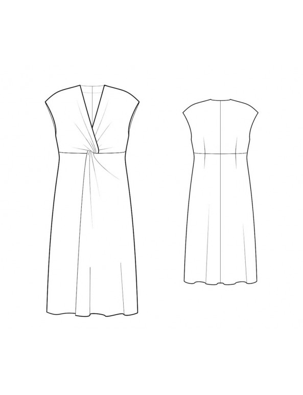 Fashion Designer Sewing Patterns - Plunging Neckline With Twist-Knot Detail At Bust Dress