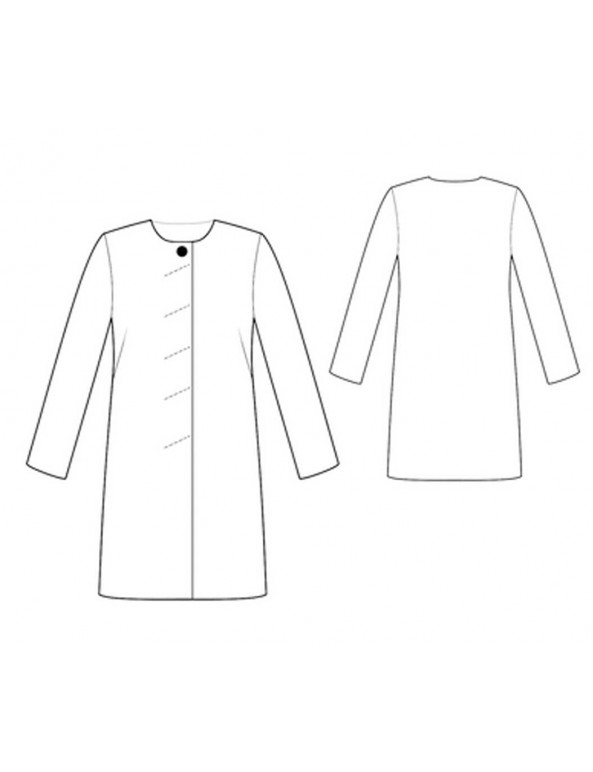 Fashion Designer Sewing Patterns - Collar-less Classic Coat