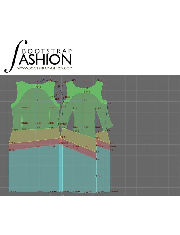 Fashion Designer Sewing Patterns - Asymmetrical Seam Sheath