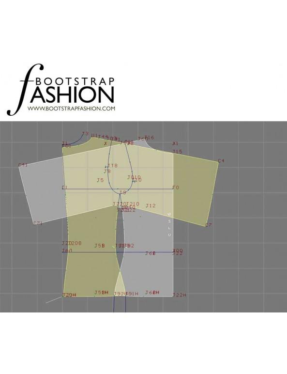 Fashion Designer Sewing Patterns - Boat-Neck Blouse with Raglan Sleeves