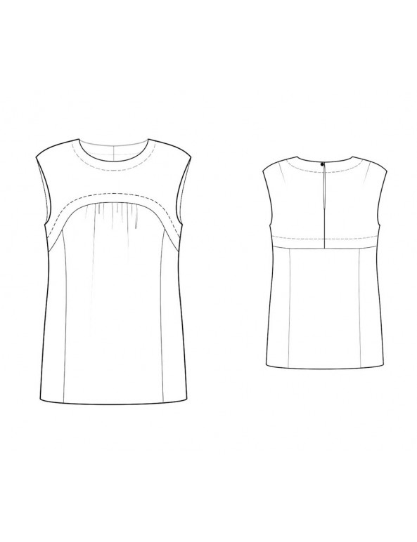 Fashion Designer Sewing Patterns - Sleeveless Yoke Front Blouse