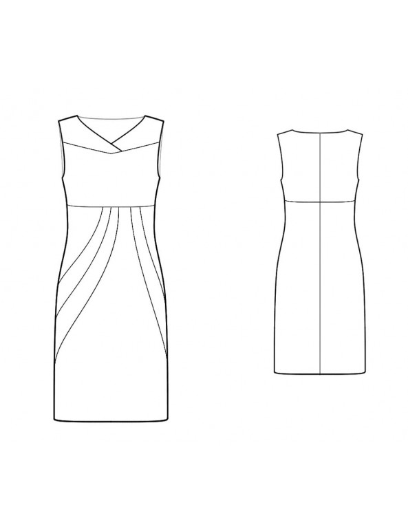 Fashion Designer Sewing Patterns - Color/Print Blocked Sculpted Dress