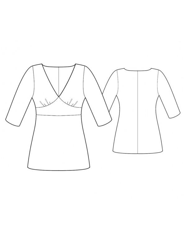 Fashion Designer Sewing Patterns - V-Neck Empire-Waist Top
