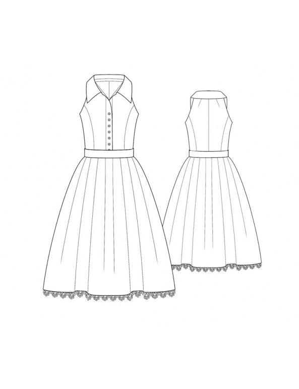 Fashion Designer Sewing Patterns - Vintage Inspired Full Skirt Dress