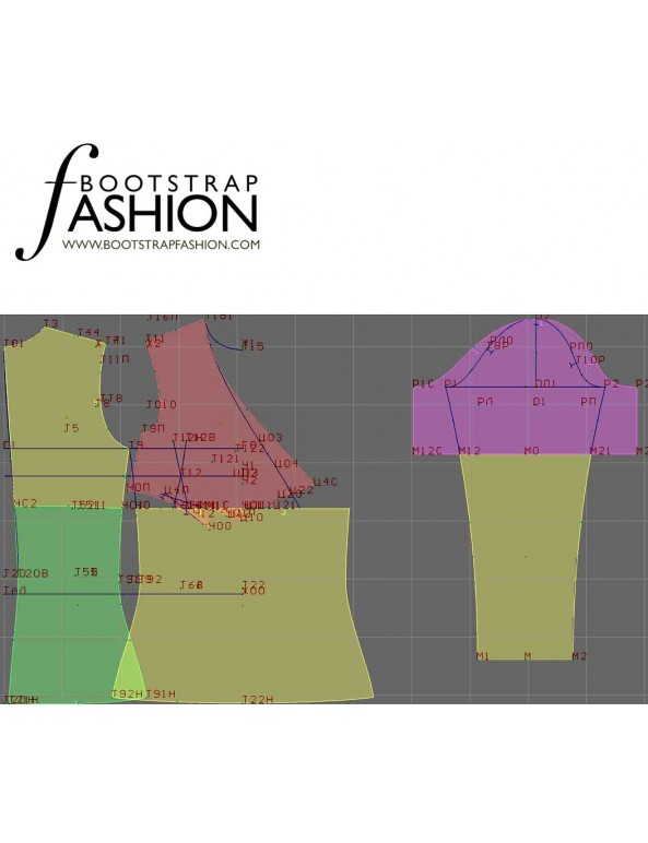 Fashion Designer Sewing Patterns - Fitted Wrap-Top Blouse
