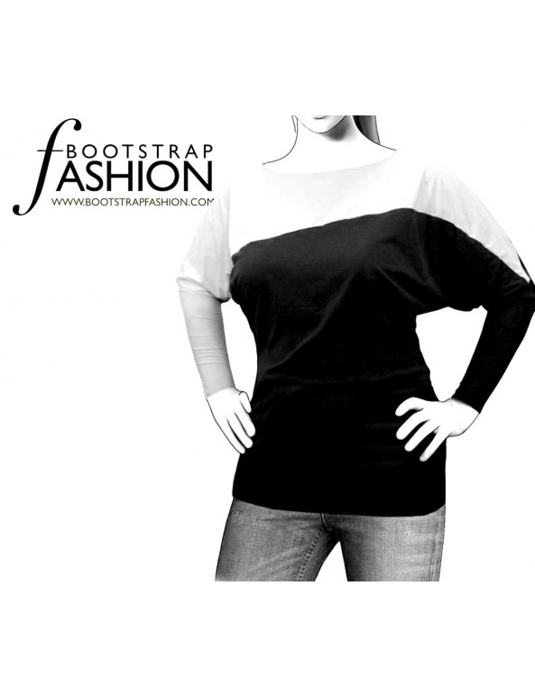 Fashion Designer Sewing Patterns - Dolman-Sleeve Top