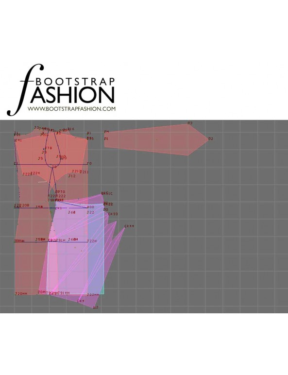 Fashion Designer Sewing Patterns - Wide Kimono Sleeves Dress With Wrap Skirt