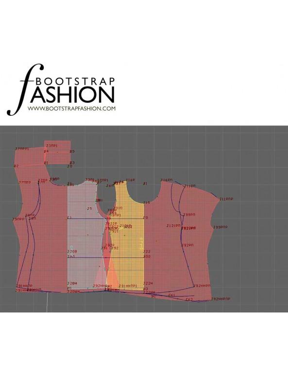 Fashion Designer Sewing Patterns - Sleeveless Top with Gathered Hem