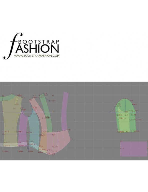 Fashion Designer Sewing Patterns - Fitted Draped Jacket