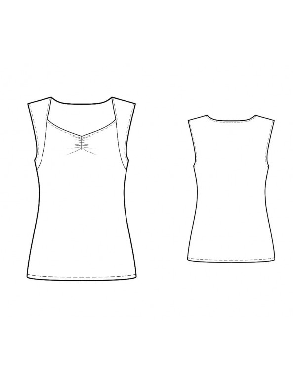 Fashion Designer Sewing Patterns - Sweetheart Knit Tank
