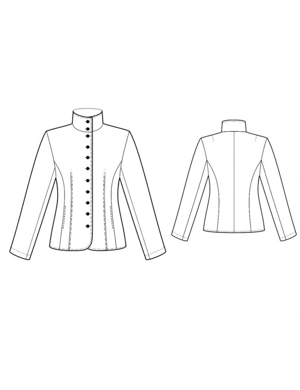 Fashion Designer Sewing Patterns - Fitted Mandarin-Style Jacket