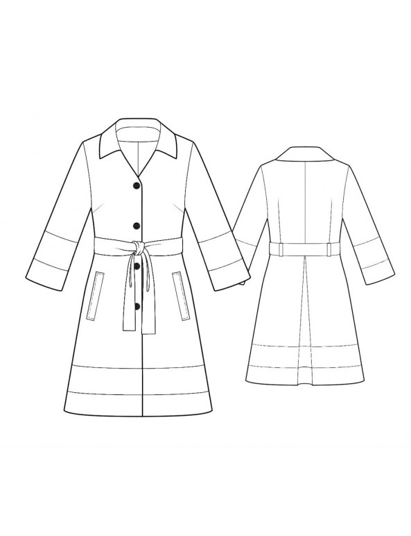 Fashion Designer Sewing Patterns - Short Jacket with Draped Neckline