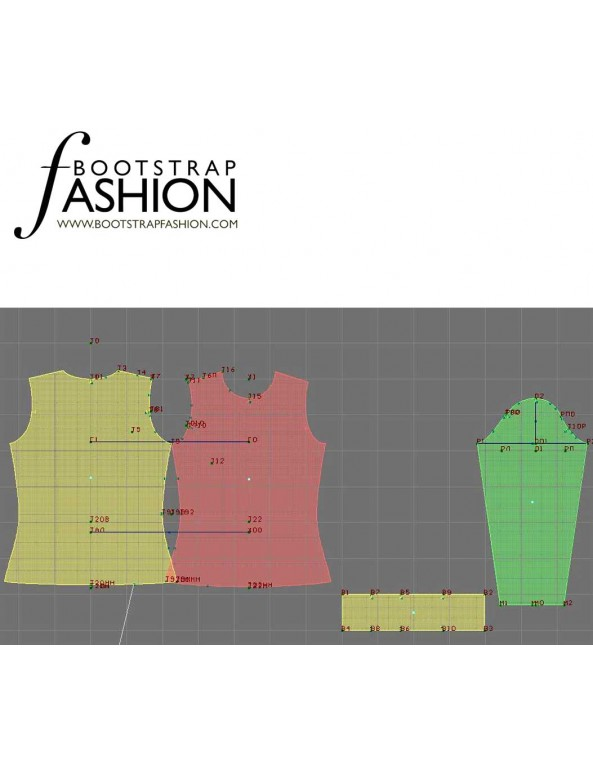Fashion Designer Sewing Patterns - Turtleneck Knit Top