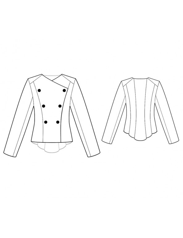 Fashion Designer Sewing Patterns - Asymmetrical Double-Breasted Jacket