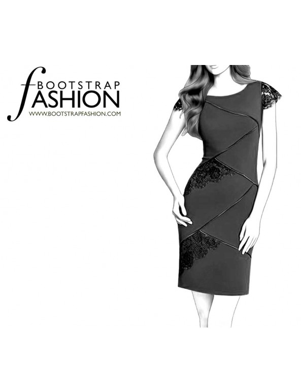 Fashion Designer Sewing Patterns - Asymmetrical Seams Dress