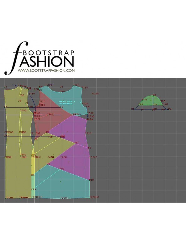 Fashion Designer Sewing Patterns - Asymmetrical Seams Dress