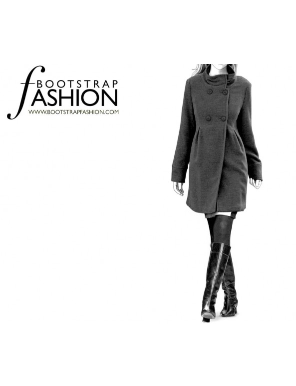 Fashion Designer Sewing Patterns - Wrap Coat with Wide Lapels