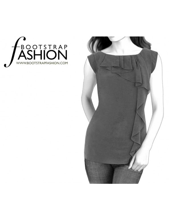 Fashion Designer Sewing Patterns - Cascading Ruffle Tank