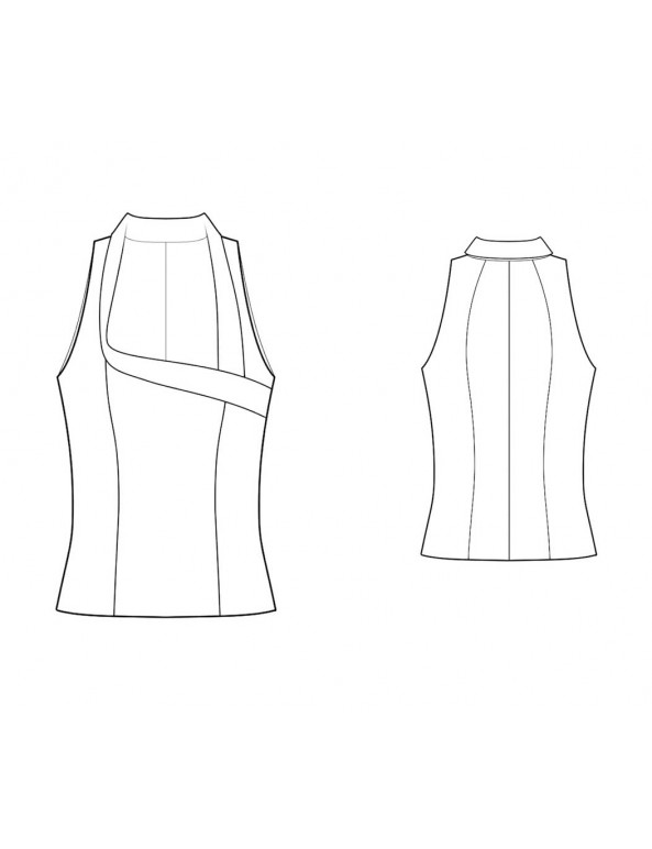 Fashion Designer Sewing Patterns - Fitted Sleeveless Blouse