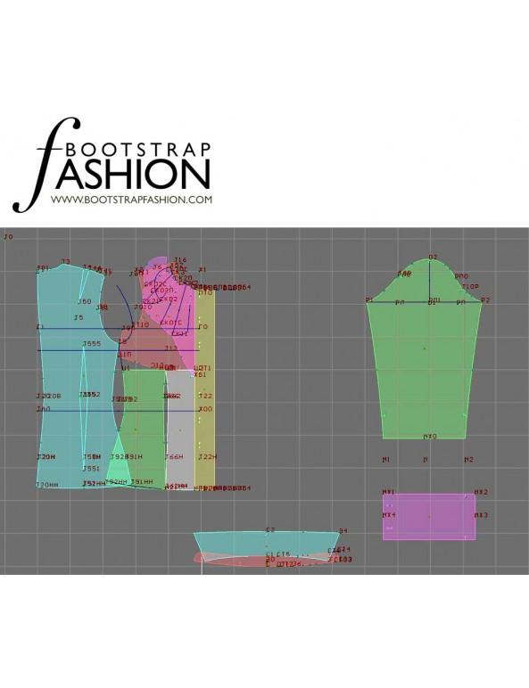 Fashion Designer Sewing Patterns - Long-Sleeved Tuxedo Shirt