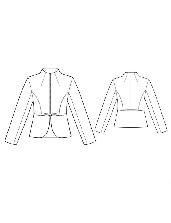 Fashion Designer Sewing Patterns - Tailored Military Style Jacket