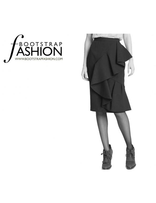 Fashion Designer Sewing Patterns - Ruffle Wrap Skirt