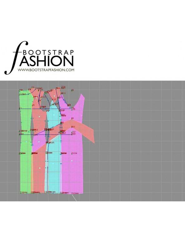 Fashion Designer Sewing Patterns - Lace-trim Cap Sleeve Dress