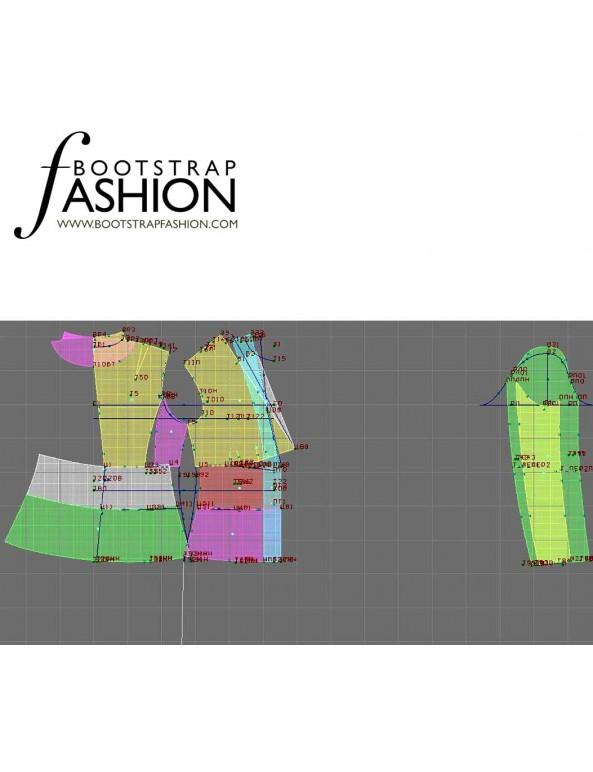 Fashion Designer Sewing Patterns - V-Neck Collarless Jacket