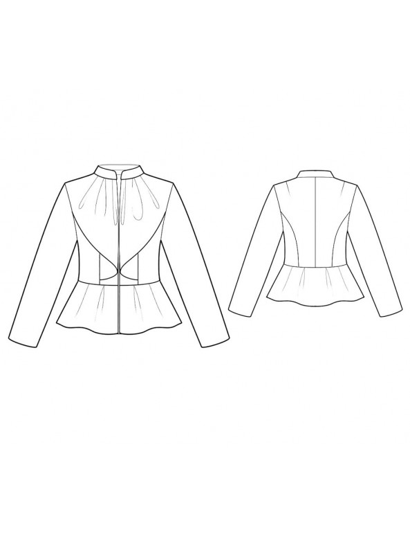 Fashion Designer Sewing Patterns - Peplum Long-Sleeved Jacket