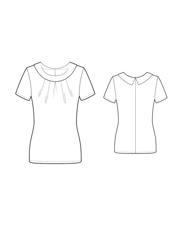 Fashion Designer Sewing Patterns - Portait Neck Top