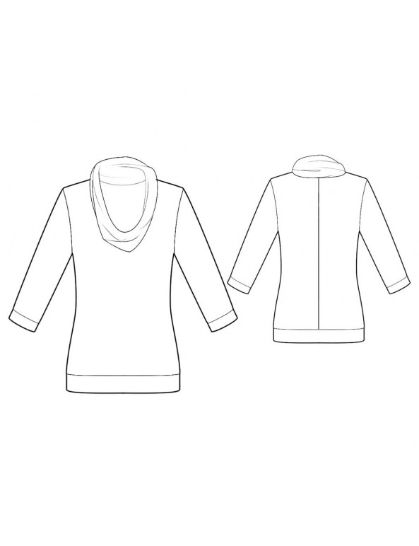 Fashion Designer Sewing Patterns - Cowl Neck Knit Top