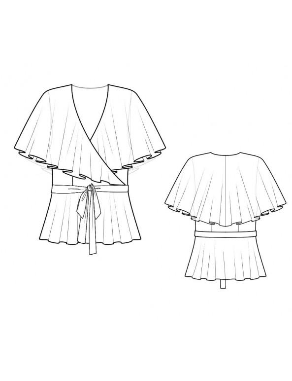 Fashion Designer Sewing Patterns - Shawl-Neck Blouse