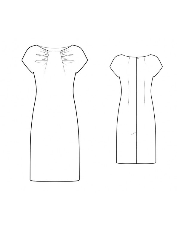 Fashion Designer Sewing Patterns - Dropped Shoulder Boat Neck Dress