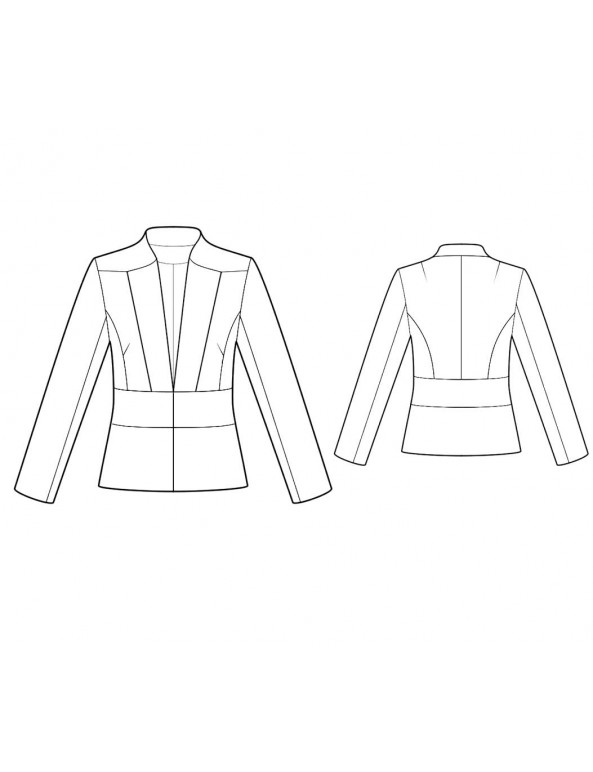 Fashion Designer Sewing Patterns - Tailored V-Neck Jacket