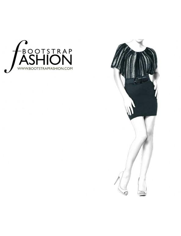 Fashion Designer Sewing Patterns - Combination Mini Dress