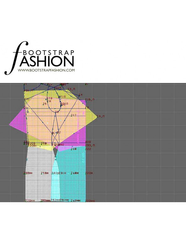 Fashion Designer Sewing Patterns - Combination Mini Dress