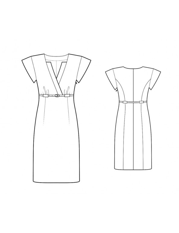 Fashion Designer Sewing Patterns - High Waist Tailored Dress