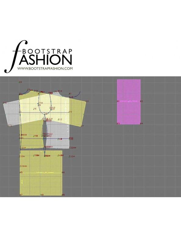 Fashion Designer Sewing Patterns - Blouse with Kimono Sleeves