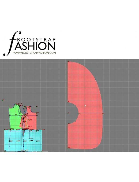 Fashion Designer Sewing Patterns - Scoop Neck Hankerchief Hemline