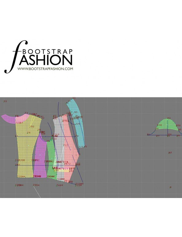 Fashion Designer Sewing Patterns - One-Button Cropped Jacket with Collar