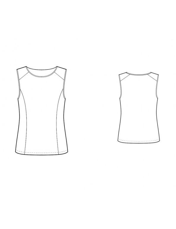 Fashion Designer Sewing Patterns - Paneled Knit Top