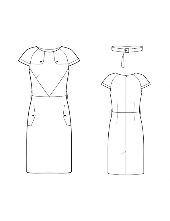 Fashion Designer Sewing Patterns - Trench-coat Inspired Dress