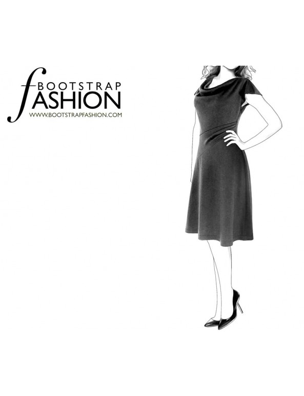 Fashion Designer Sewing Patterns - Cowl Neck Dress