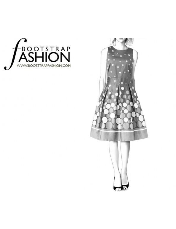 Fashion Designer Sewing Patterns - Jewel Neck Dress