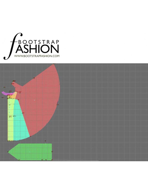 Fashion Designer Sewing Patterns - Scarf Front Cape